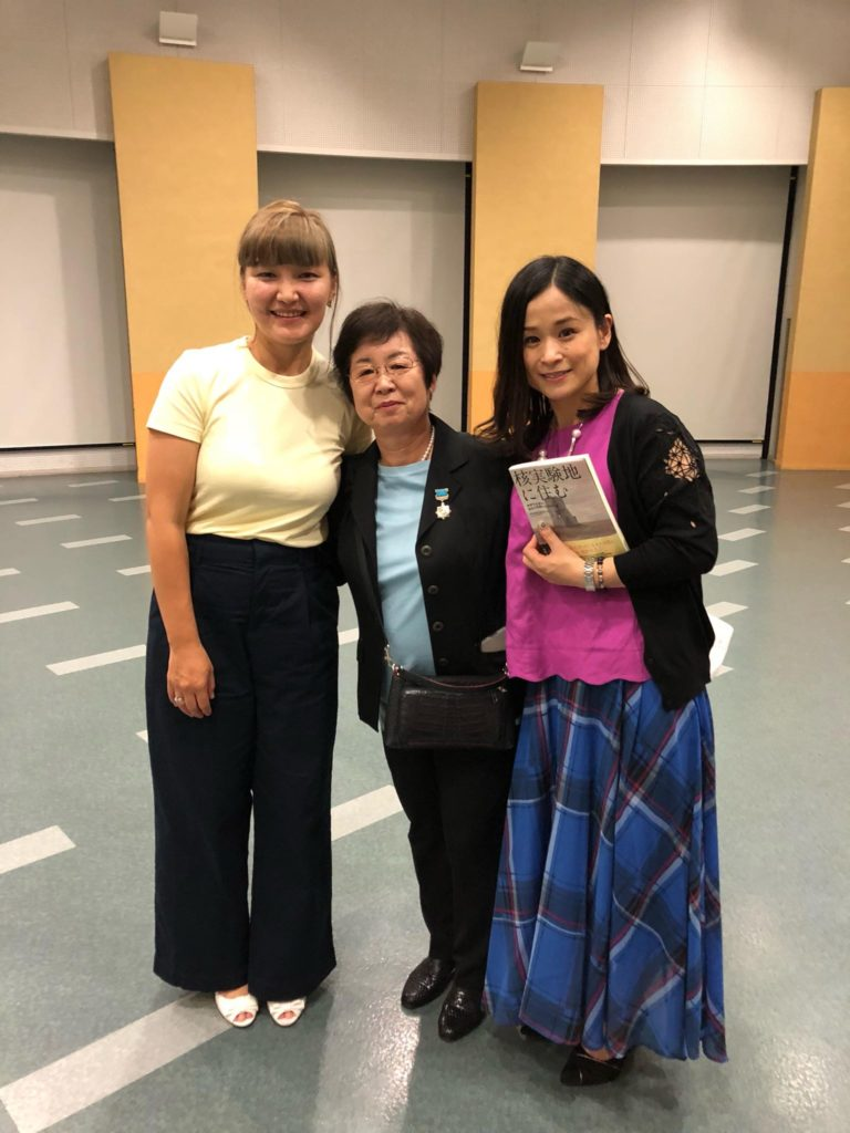 Lyrics translator Akerke Sultanova, Vice Director of HiroSemi Chieko Kobatake, Japanese singer Michida Ryoko