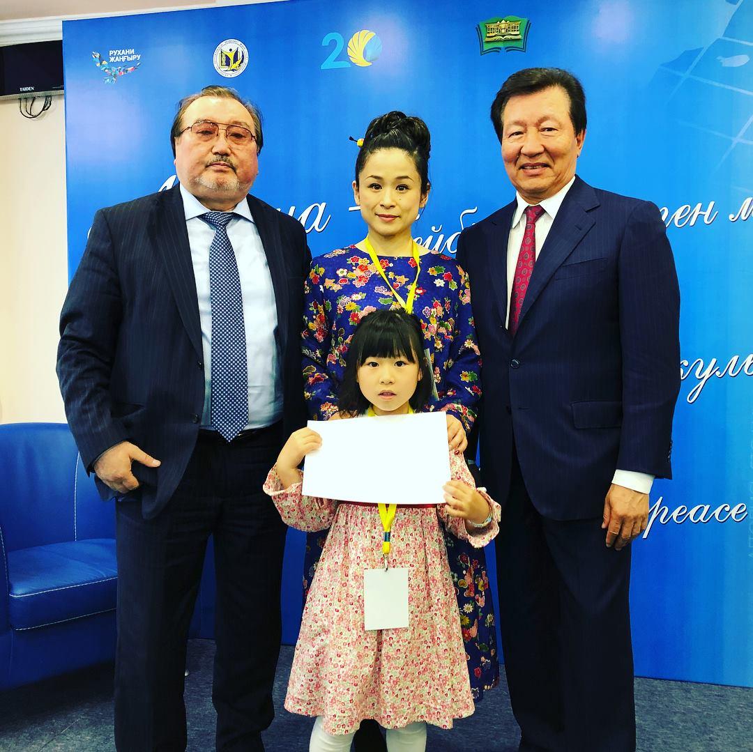 Ulugbek Yesdaulet, Michida Ryoko and Tulegen Mukhamedzhanov.